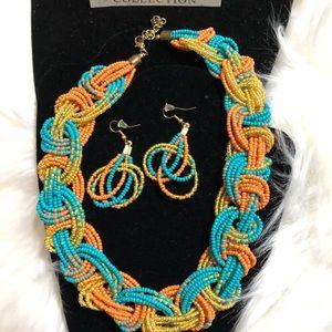 Big Beaded Summer Necklace Set!!!!
